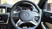 Mercedes-Benz ML 63 AMG Review steering wheel