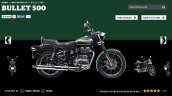 Royal Enfield Bullet 500 Forest Green colour screen capture