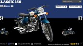 Royal Enfield Classic 350 Lagoon colour screen capture