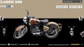 Royal Enfield Classic 500 Classic Tan colour screen capture