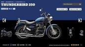 Royal Enfield Thunderbird 350 Marine colour screen capture
