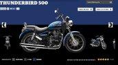 Royal Enfield Thunderbird 500 Marine colour screen capture