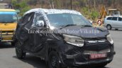 Spied Mahindra S101 in Chennai front quarter