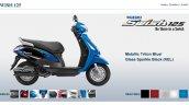 Suzuki Swish 125 Metallic Triton Blue screen capture