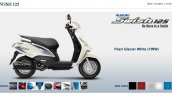 Suzuki Swish 125 Pearl Glacier White screen capture