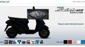 Suzuki Swish 125 upgraded instrument panel screen capture