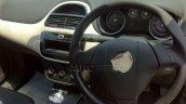 2014 Fiat Punto facelift India dashboard spyshot
