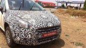 2014 Fiat Punto facelift India front spyshot