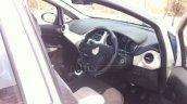 2014 Fiat Punto facelift India interior spyshot