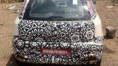2014 Fiat Punto facelift India rear fascia spyshot