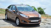 2014 Ford Fiesta Facelift Review Golden Brown front quarter