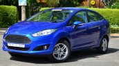 2014 Ford Fiesta Facelift Review front three quarter image
