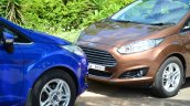 2014 Ford Fiesta Facelift Review hood of the car
