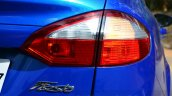 2014 Ford Fiesta Facelift Review taillight on