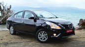 2014 Nissan Sunny facelift diesel review front quarter view