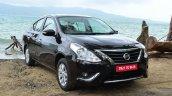2014 Nissan Sunny facelift diesel review front quarter