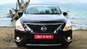 2014 Nissan Sunny facelift diesel review front with lights