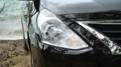 2014 Nissan Sunny facelift diesel review headlight