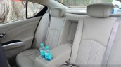 2014 Nissan Sunny facelift diesel review rear seats