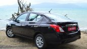 2014 Nissan Sunny facelift diesel review rear three quarter angle