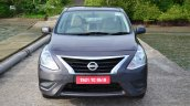 2014 Nissan Sunny facelift petrol CVT review front image