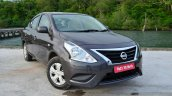 2014 Nissan Sunny facelift petrol CVT review front three quarter