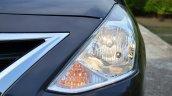 2014 Nissan Sunny facelift petrol CVT review headlamp