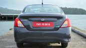2014 Nissan Sunny facelift petrol CVT review rear image