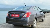 2014 Nissan Sunny facelift petrol CVT review rear quarter angle