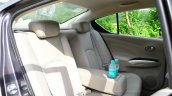 2014 Nissan Sunny facelift petrol CVT review rear seat