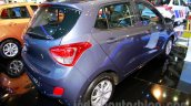 Hyundai Grand i10 rear three quarters right at the 2014 Indonesia International Motor Show