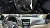 Hyundai Verna facelift vs Old Verna interior