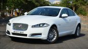 Jaguar XF 2.0L Petrol Review front quarter