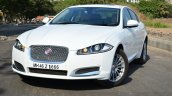 Jaguar XF 2.0L Petrol Review front three quarter