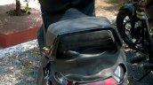Mahindra 110cc scooter caught testing rear