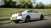 Rear right three quarters of the Bentley Continental GT3-R
