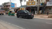 Spied in Chennai Mahindra S101 front quarter