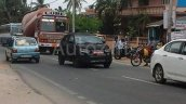 Spied in Chennai Mahindra S101 front