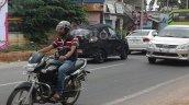 Spied in Chennai Mahindra S101 rear quarter