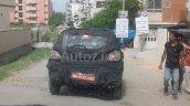 Spied in Chennai Mahindra S101 rear