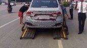 Suzuki Alivio spied in China on a truck