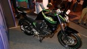 Yamaha FZ-S FI V2.0 green front three quarters