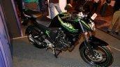 Yamaha FZ-S FI V2.0 green front three quarters