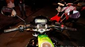Yamaha FZ-S FI V2.0 green rider's view
