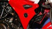 Yamaha FZ-S FI V2.0 white red tank extensions