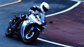 Yamaha R25 on race track