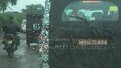 2014 Mahindra Scorpio facelift spied IAB Nashik taillight