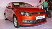 2014 VW Polo facelift front three quarters left launch