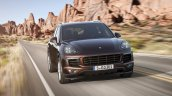 2015 Porsche Cayenne facelift press shots front angle