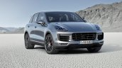 2015 Porsche Cayenne facelift press shots front quarter